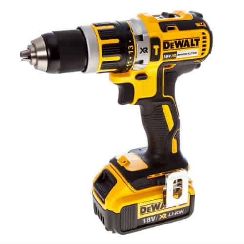 The DeWalt 18V XR Brushless Combi Drill can handle medium to heavy handed jobs. Its speed and torque are enough to work on even the thicker most dense materials such as steel and hardwood.