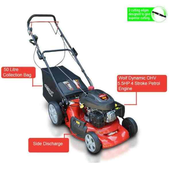 The Frisky Fox PLUS Self Propelled Petrol Lawn Mower is a brilliant lawnmower that was previously awarded our 'Best Pick Award' for the best petrol lawnmower.  However during this review we think that the Tiger Self Propelled Lawn Mower to just have the extra edge with its larger collection box and world trusted Briggs & Stratton engine and longer warranty period.