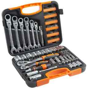 Comes with a wide range of sockets to select from and includes a screwdriver bit set. Even comes with 2 years warranty for full peace of mind.