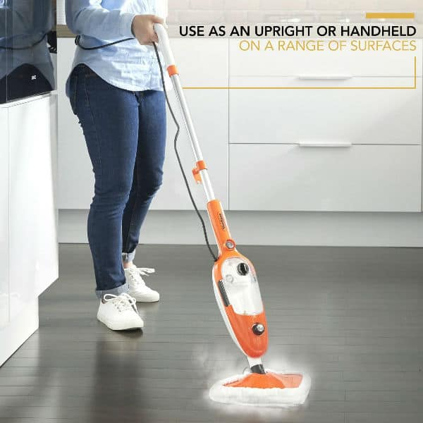 Our cheapest recommended steam mop - VonHaus Multifunctional Upright and Handheld Steam Cleaner Mop