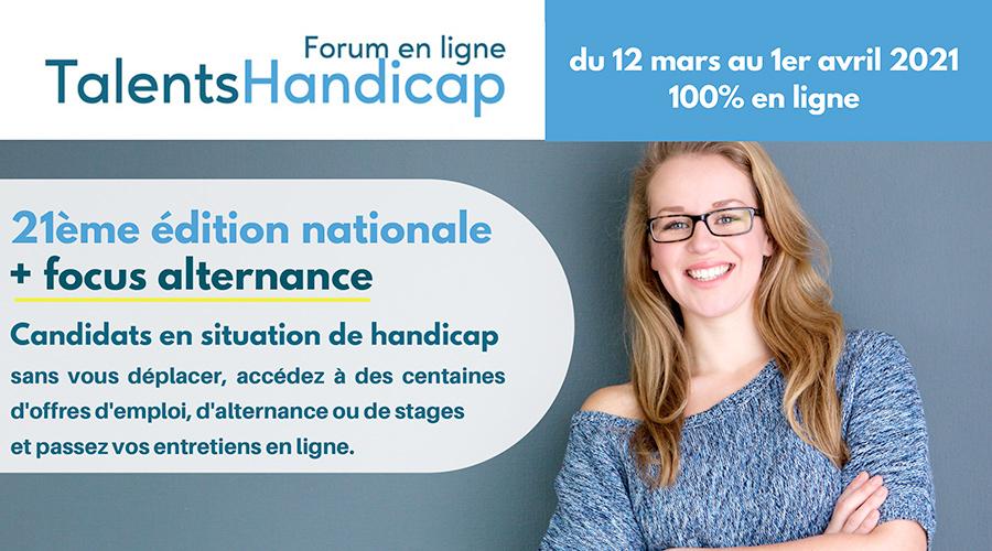 21ème forum en ligne national Talents Handicap