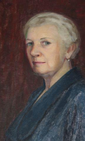 Selbstporträt der älteren Alice von Maltzahn.