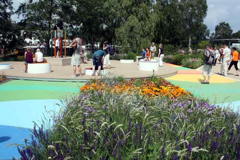 Aquarellgarten: Nicht nur die Natur streicht die Gartenschau bunt an.