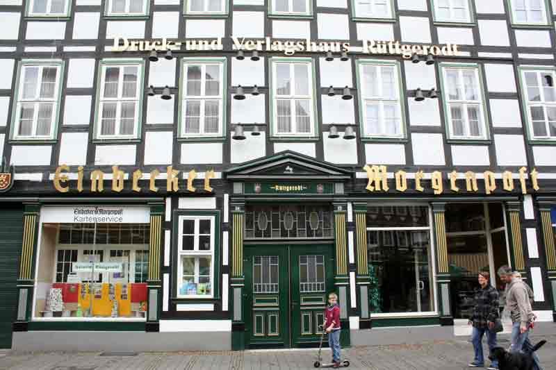 Das Gebäude der Einbecker Morgenpost ist noch genauso prächtig wie damals.
