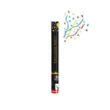 Tubo spara coriandoli 60 cm multicolor metalizzati lunga gittata