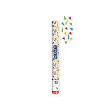 Tubo spara coriandoli 60 cm multicolor