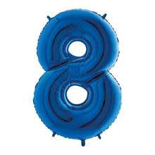 Palloncino mylar blu 1 mt Numero 8