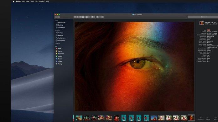 macOS Mojave fecha de lanzamiento y nuevas características: Vista de Galería