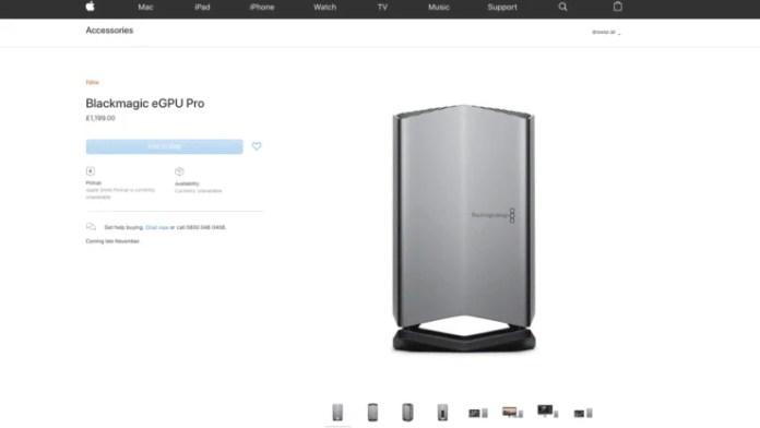 Nueva eGPU opción MacBook Pro