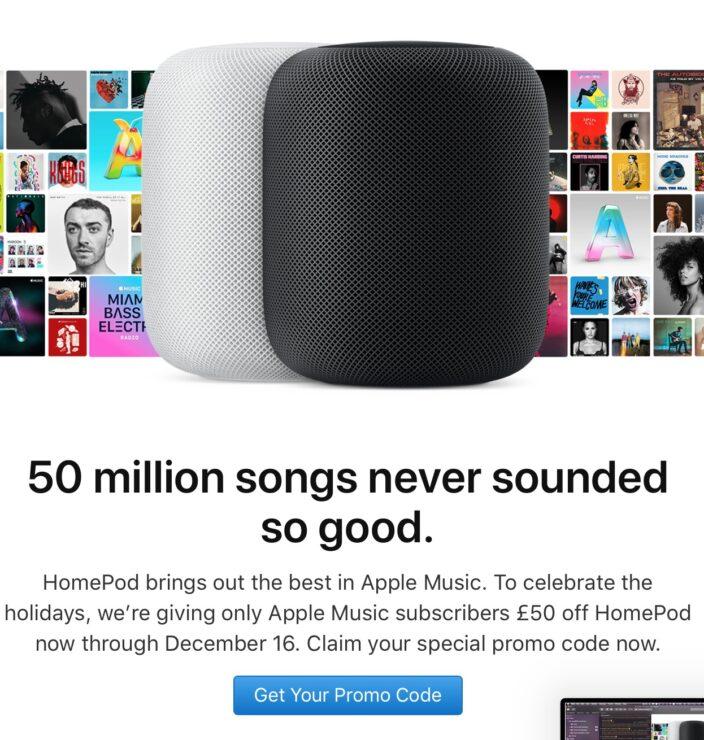Apple ofrece la HomePod en descuento a suscriptores de Apple Music