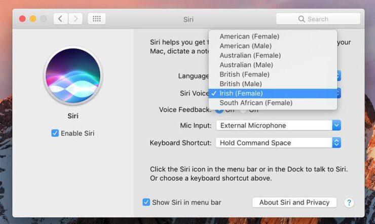 Cómo utilizar Siri en Mac: el Cambio de la voz