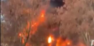 incendio en Barcelona