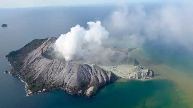volcán en Nueva Zelanda