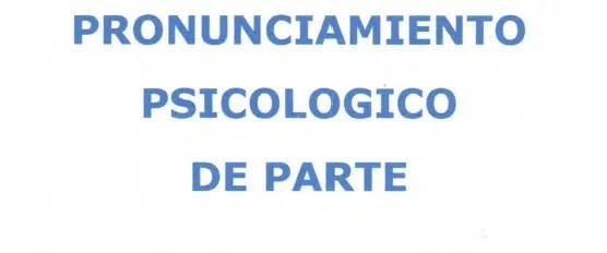 PRONUNCIAMIENTO PSICOLOGICO 1