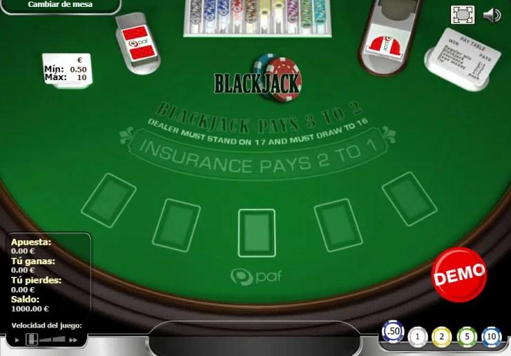 Blackjack en Casino Online