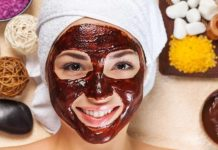 mascarilla facial de chocolate