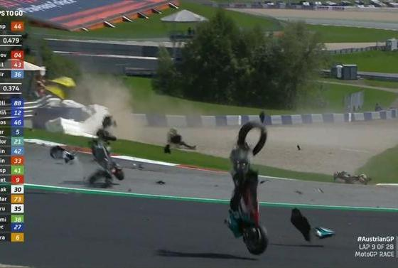 Choque Brutal Interrumpe GP de Austria [VÍDEO]