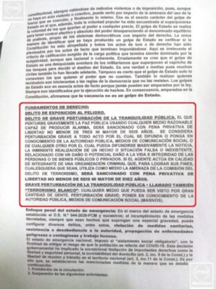 Denuncia Penal contra dueños de Medios 3