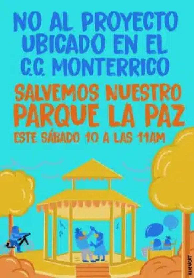 Campaña contra venta del Parque de la Paz