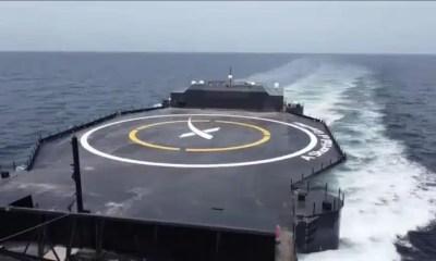 Elon Musk presenta la nueva nave dron de Spacex