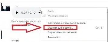 descarga audio