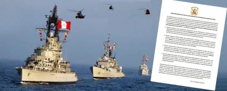 Expresiones del Canciller Bejar causaron rechazo de la Marina de Guerra del Perú