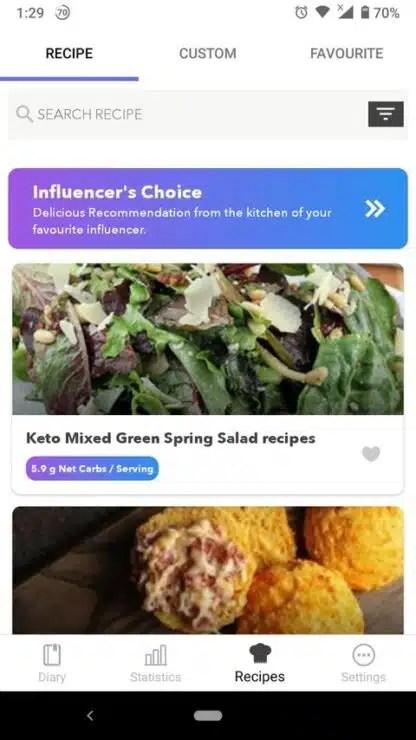 apps para la dieta cetogénica