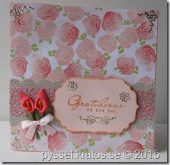 gratulationskort i rosa