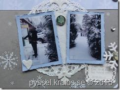 snöig layout närbild