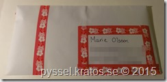 Pocket letter på väg till Marie