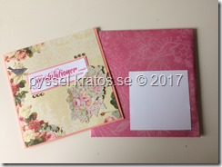 beställningskort romantiskt och kuvert