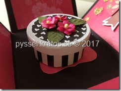 explodingbox tårta