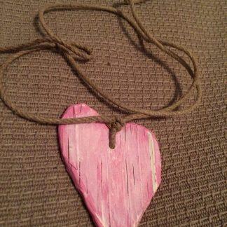 Rosa hjärtan med rep