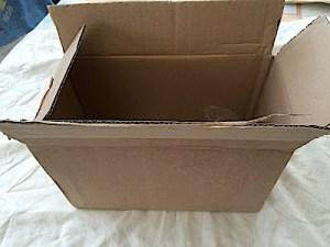 Tjock kartong låda