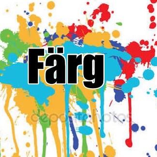 Färg, glitter/paljetter , penslar och lera