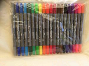 Turschpennor med dubbla penspetsar