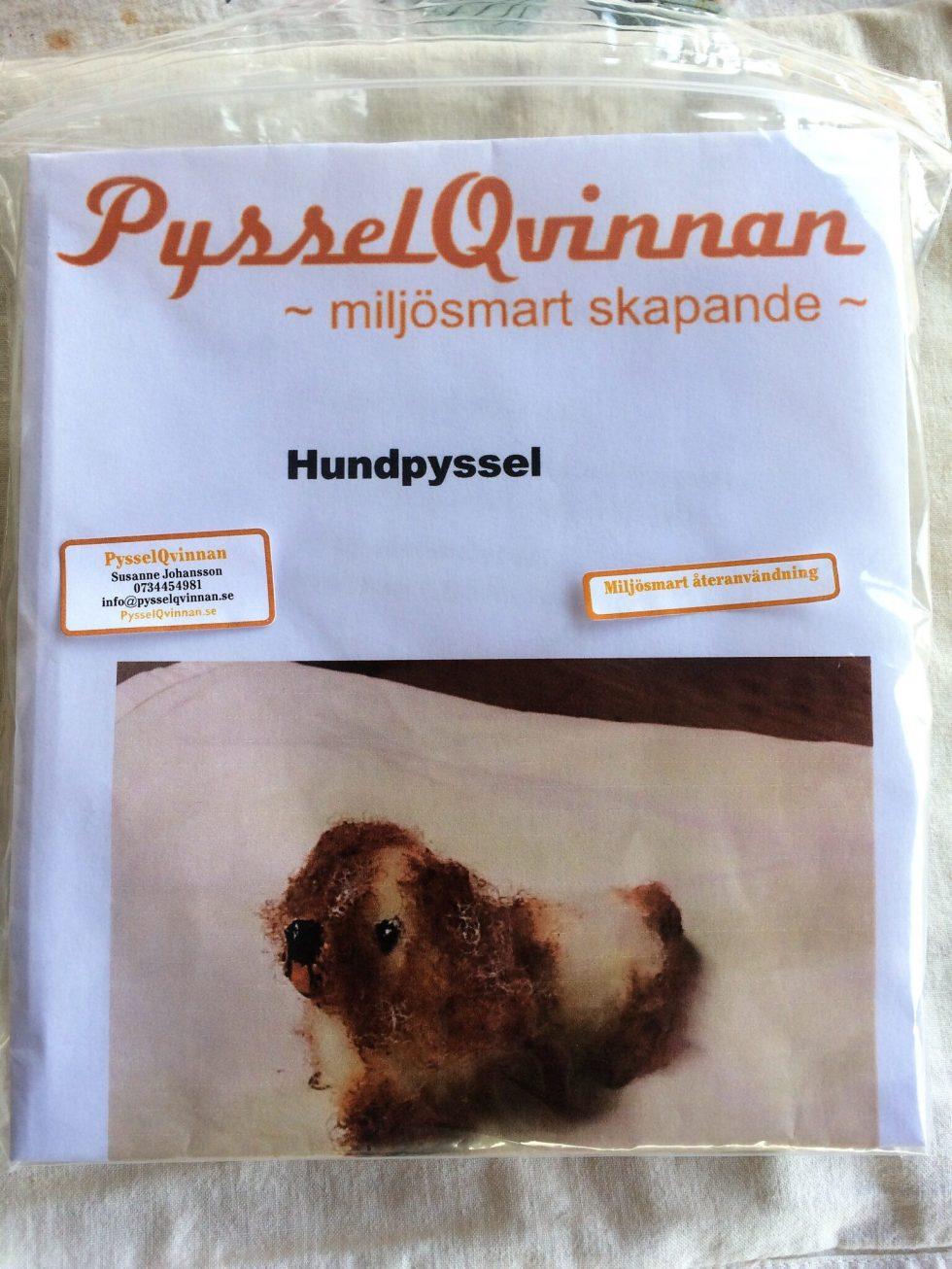 Hundpyssel paketet med mellanstor ljusbrun päls