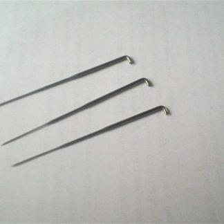 Filtnålar i tre olika storlekar som s, m och l