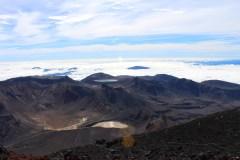 Amazing view back over the Tongariro Crossing