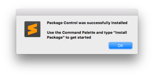 Sublime Text Package Control installed