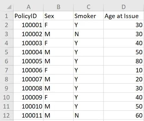 Example spreadsheet 1