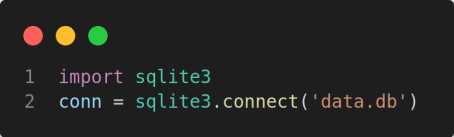 python connect to sqlite