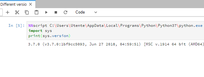 To use a specific version of Python in Jupyter Lab