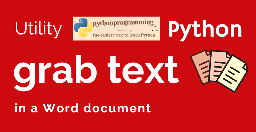 Grab the text from a Word document | python programming