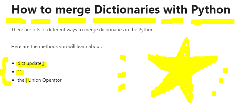 How to merge Dictionaries with Python