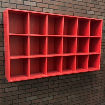 18 Cubby Helmet Rack All Wood Dugout Storage Pyt