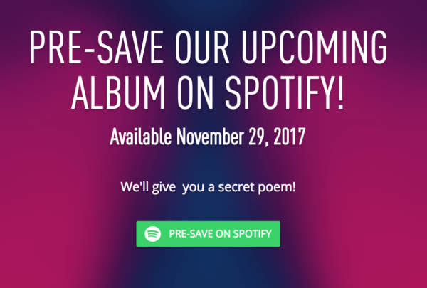 Pre-saves for you release on Spotify can build momentum.