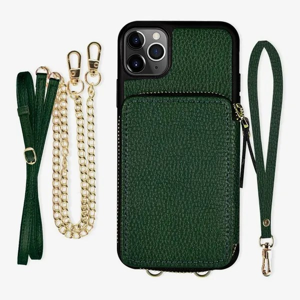 iPhone 11 Pro Wallet Case, ZVE Zipper