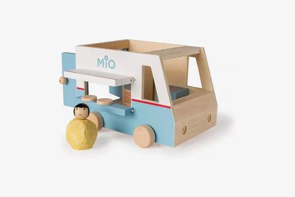 MiO Food Truck Vehicle + 1 Bean Bag Person Peg Doll