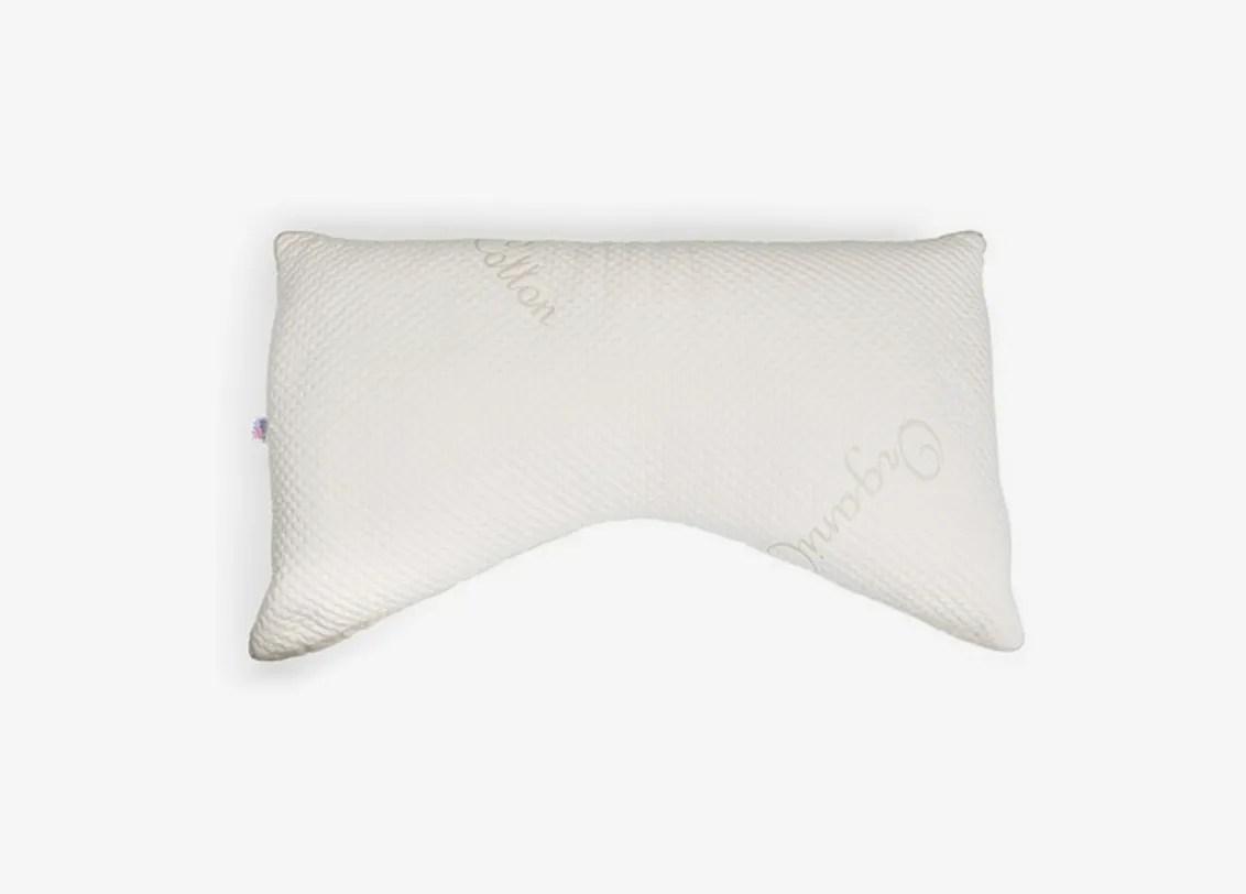 eli elm organic cotton side sleeper pillow